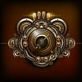Steampunk device backgrounds.