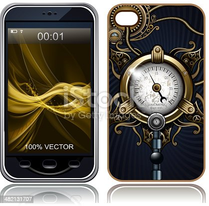 Steampunk Cover case sticker for mobile phone