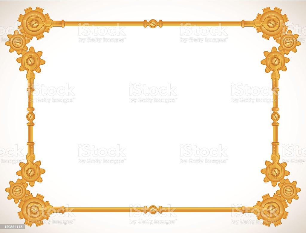 steampunk frame royalty-free stock vector art