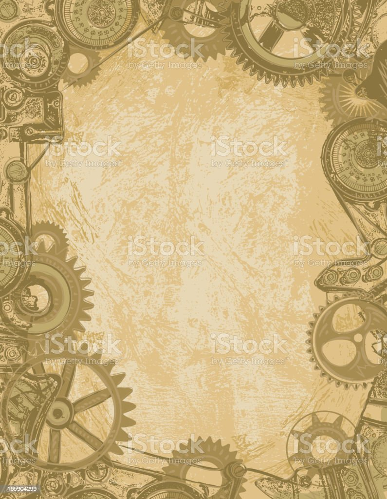 steampunk gear background stock vector art more images of