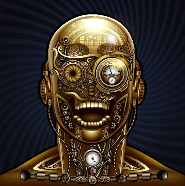 Steampunk human vector art illustration
