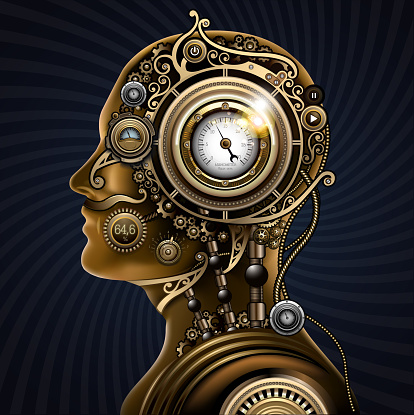 Steampunk mechanical human