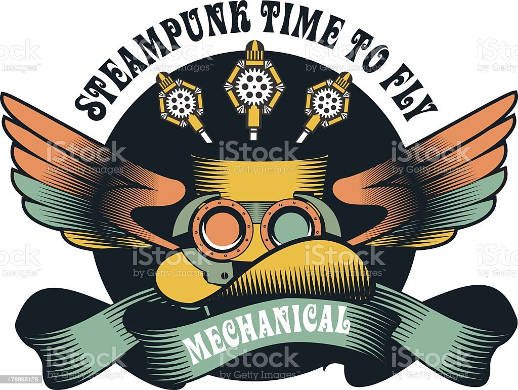 Steampunk Mechanismus - Lizenzfrei 2015 Vektorgrafik