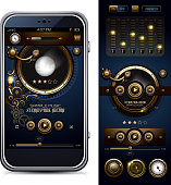 Steampunk Media Player Interface