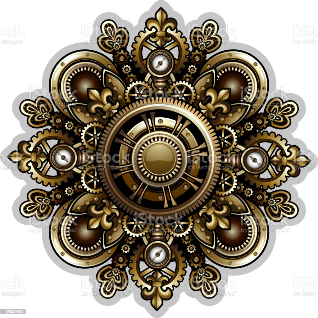 Steampunk Patterns Stock Vector Art & More Images of 2015 ...