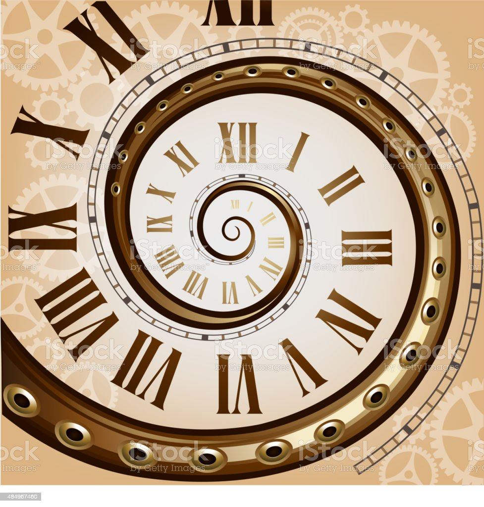 Steampunk Retro Clock Stock Illustration - Download Image ...