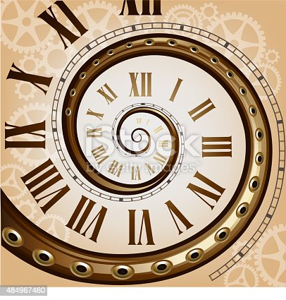 Steampunk Retro Clock Stock Vector Art & More Images of ...