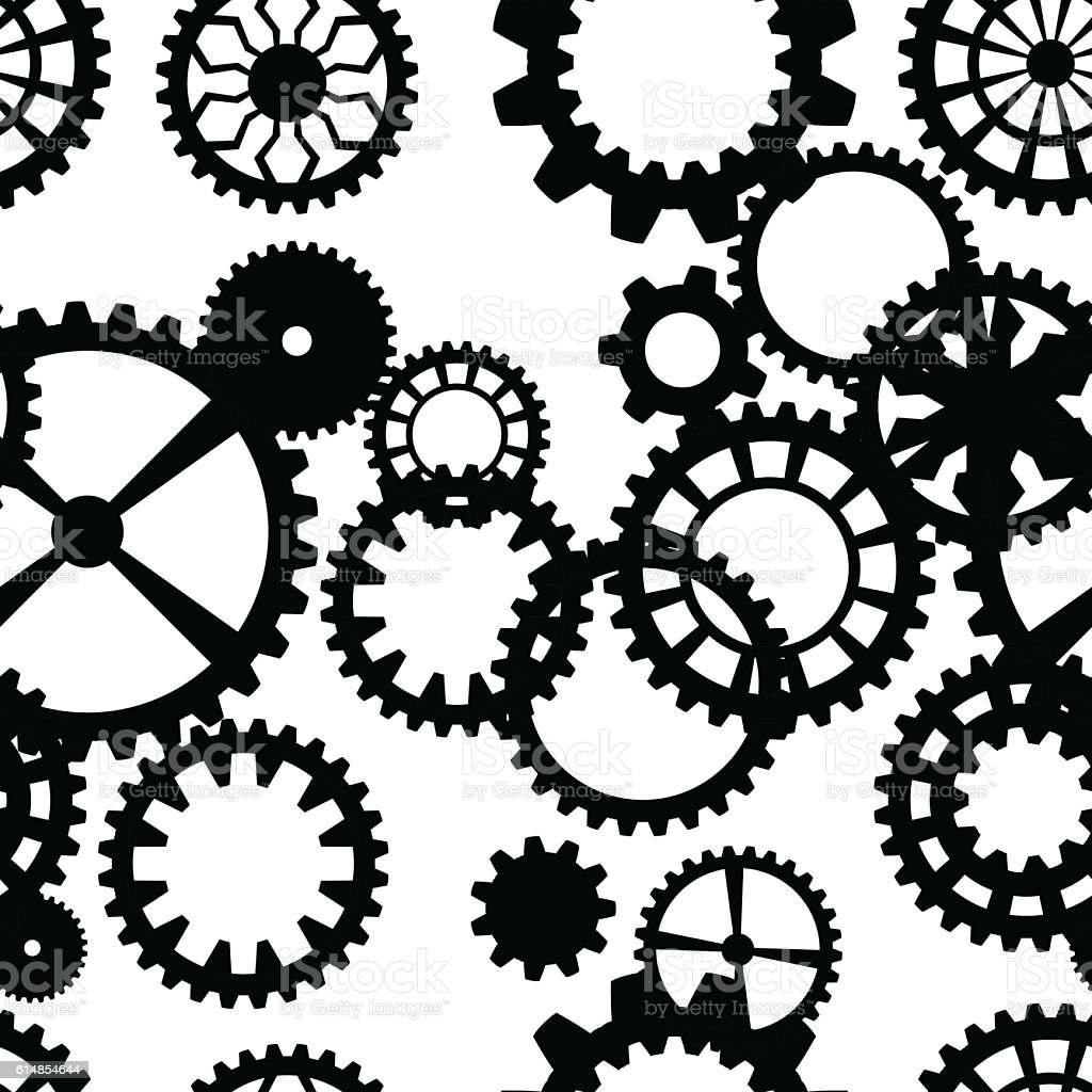 Steampunk Seamless Pattern With Clock Wheels Stock Vector ...
