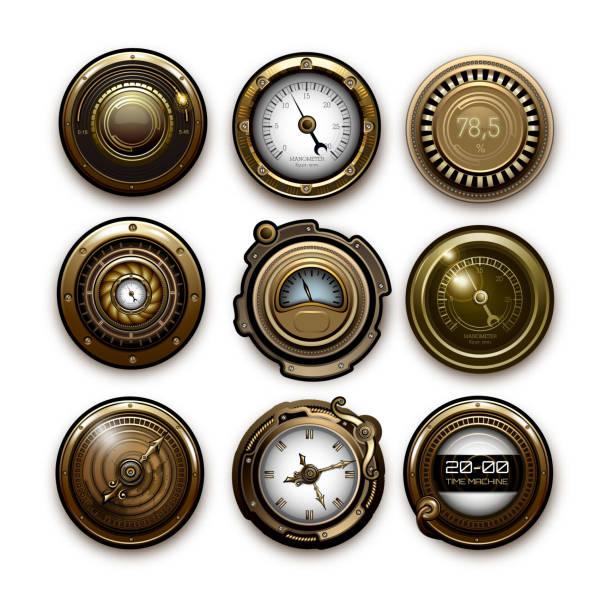 steampunk sensoren - steampunk stock-grafiken, -clipart, -cartoons und -symbole