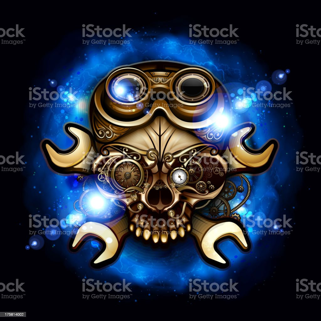 Steampunk Skull royalty-free steampunk skull stock vector art & more images of bicycle gear