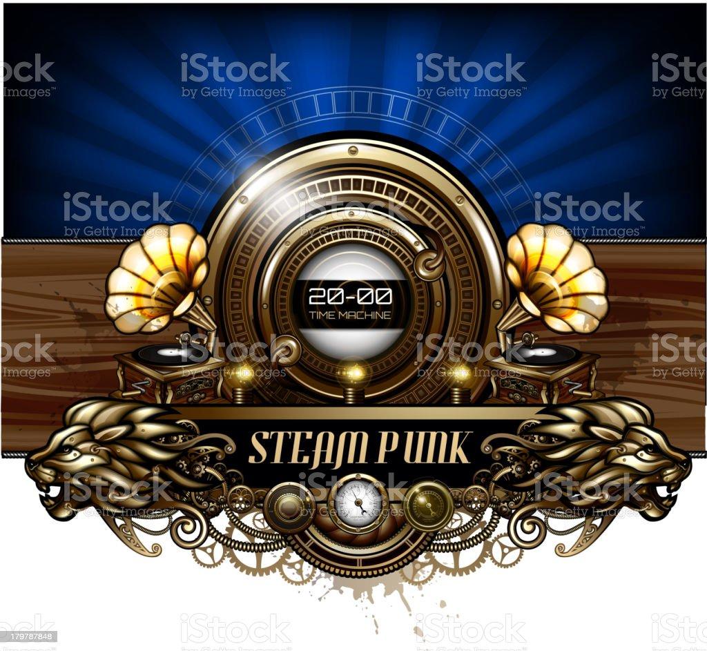 Steampunk style design royalty-free stock vector art