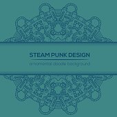 Steampunk vector design with industrial technical elements