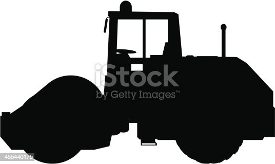 Steamroller Silhouette