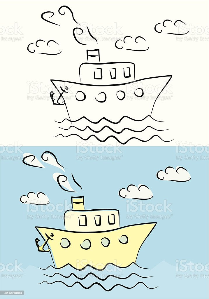 steamship illustration royalty-free stock vector art