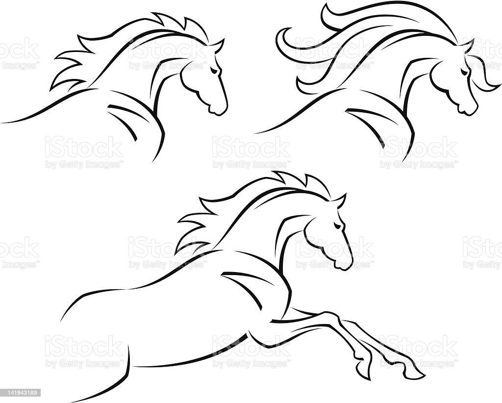 Steed vector art illustration