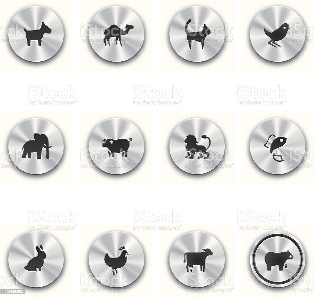 Steel Animal Buttons royalty-free steel animal buttons stock vector art & more images of aluminum
