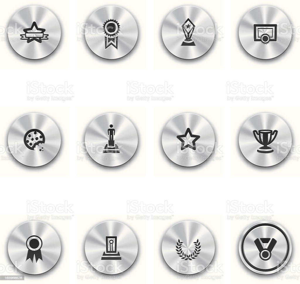 Steel Awards and Prizes Buttons royalty-free steel awards and prizes buttons stock vector art & more images of achievement