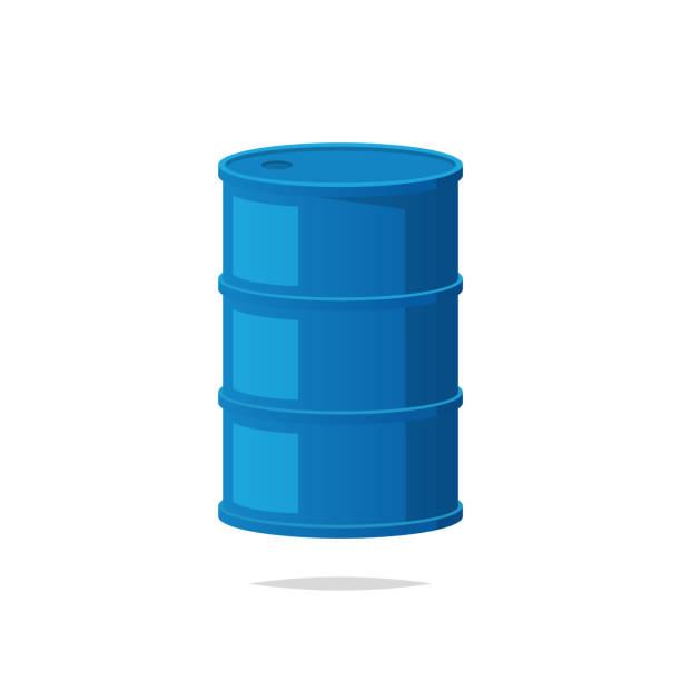 illustrazioni stock, clip art, cartoni animati e icone di tendenza di steel barrel container vector - cask
