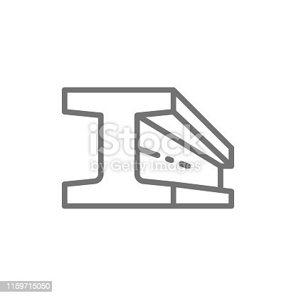 Vector steel beam product, metallurgy product line icon. Symbol and sign illustration design. Isolated on white background