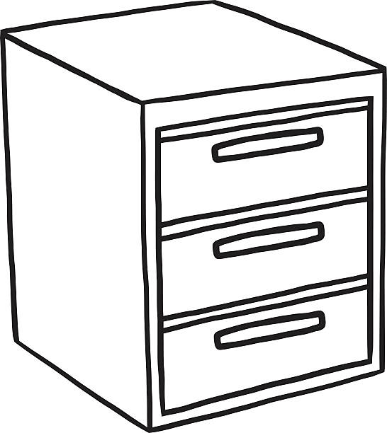 File Cabinet Clip Art: Royalty Free White Metal File Cabinet Clip Art, Vector