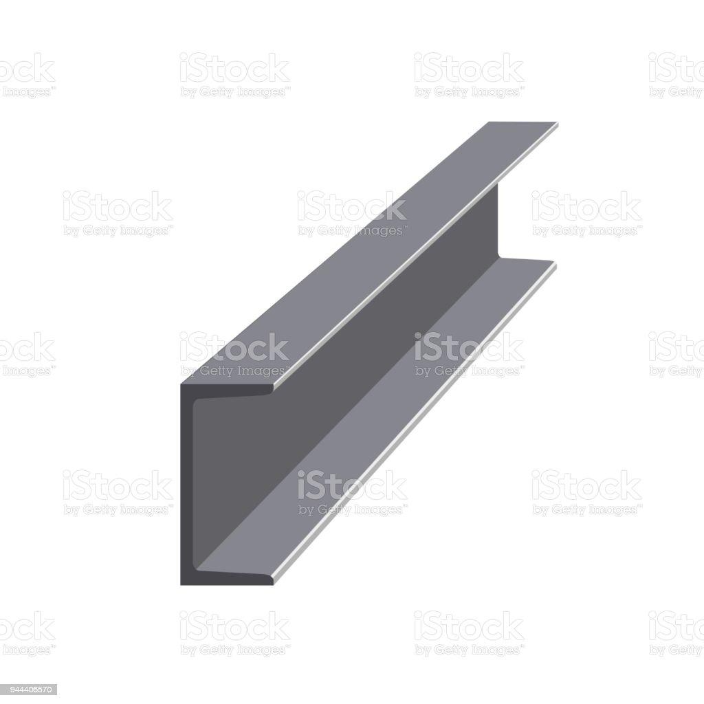 Steel channel vector vector art illustration