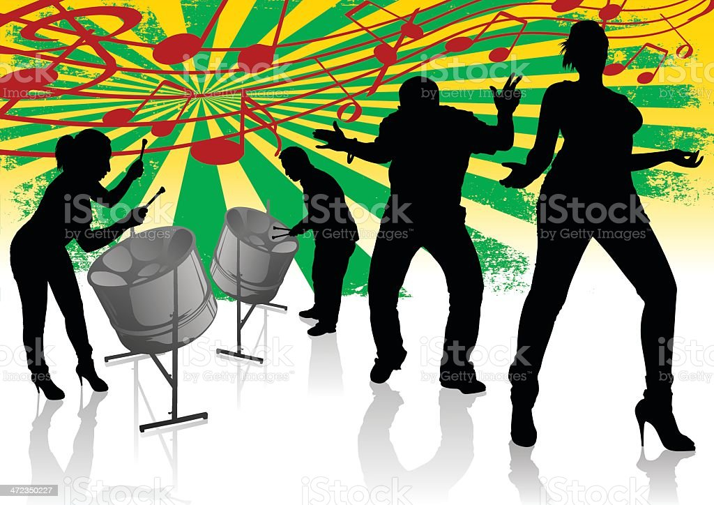 Steel Drum Calypso Street Party - Royalty-free Adult stock vector