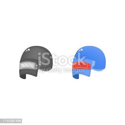 Steel helmet flat icon, pubg vector illustration