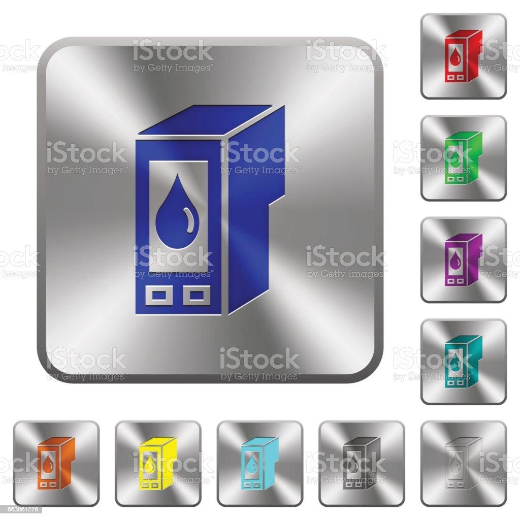 Steel ink cartridge buttons vector art illustration