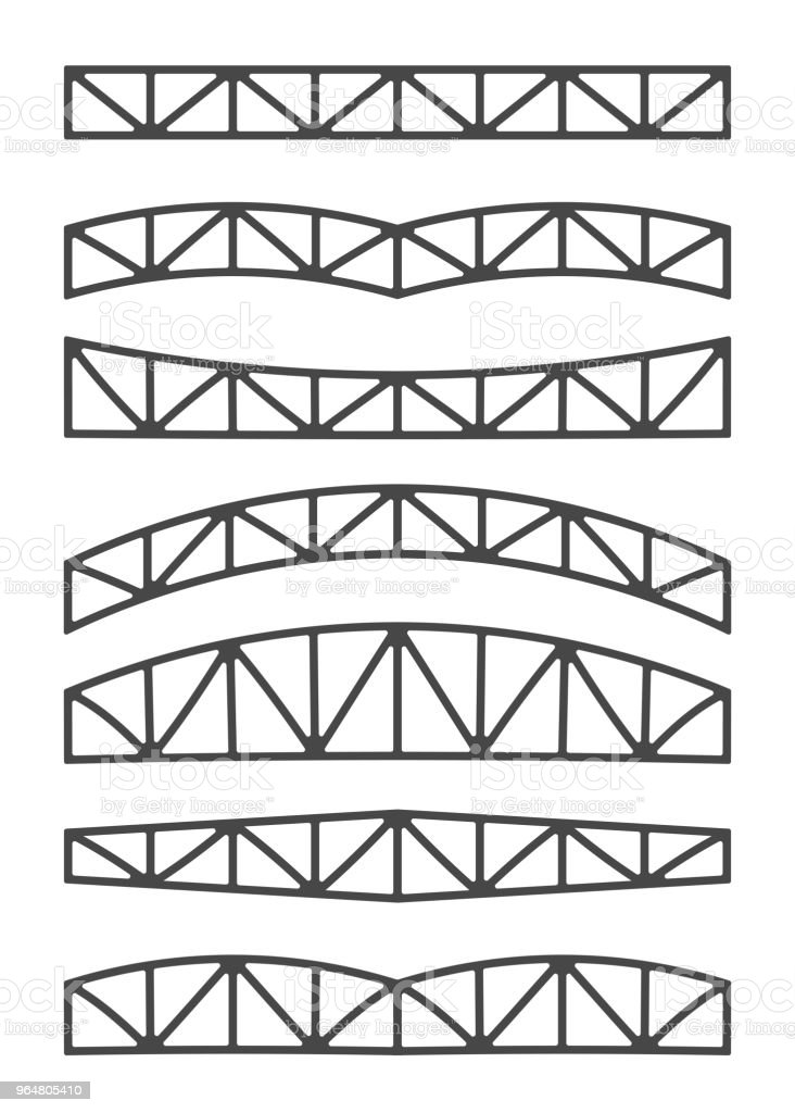 Steel metal trusses. royalty-free steel metal trusses stock vector art & more images of aluminum