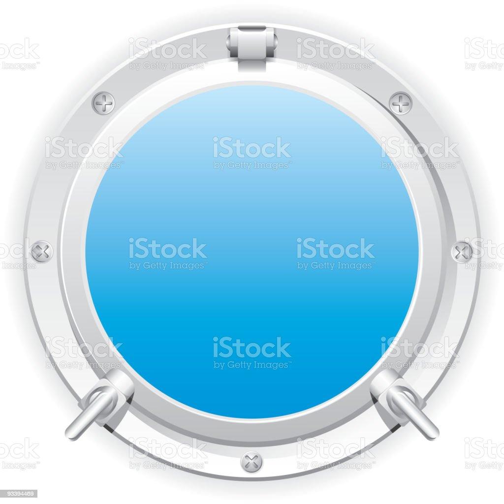 steel porthole royalty-free stock vector art