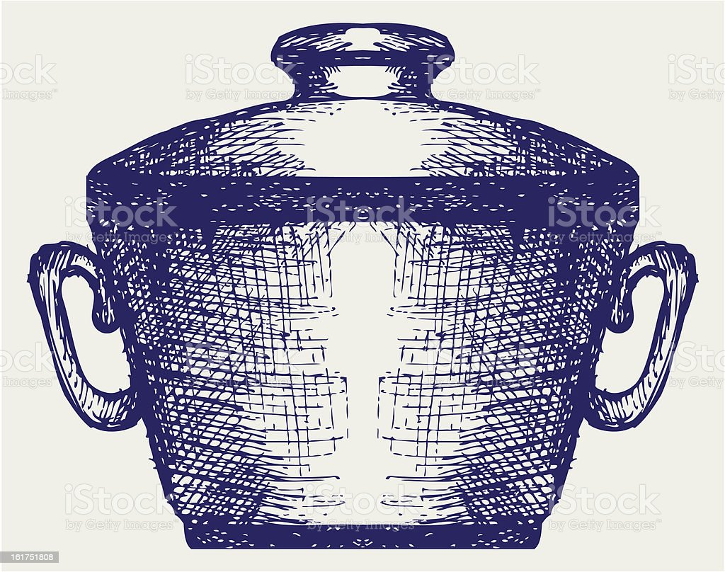 Steel pot royalty-free steel pot stock vector art & more images of cooking