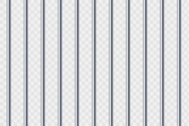 stahl-gefängnisriegel. isoliert auf transparentem hintergrund - gitter stock-grafiken, -clipart, -cartoons und -symbole
