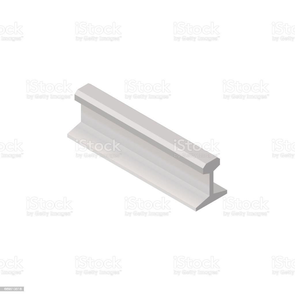 steel rails in isometric vector illustration stock vector art more