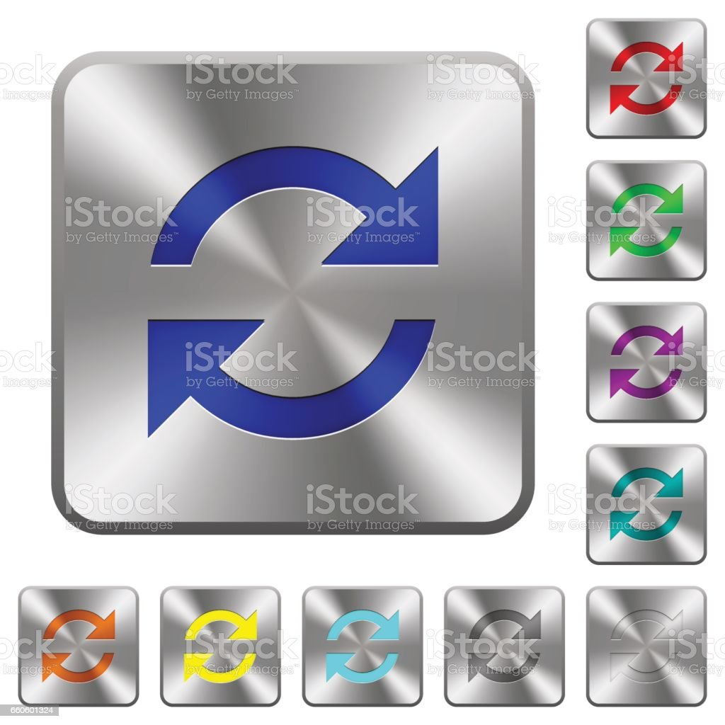 Steel refresh buttons royalty-free steel refresh buttons stock vector art & more images of applying
