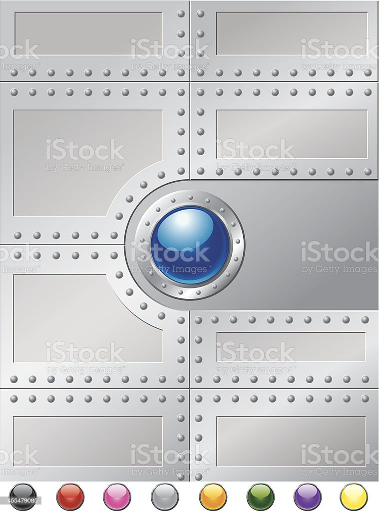 Steel Rivets Cover royalty-free stock vector art
