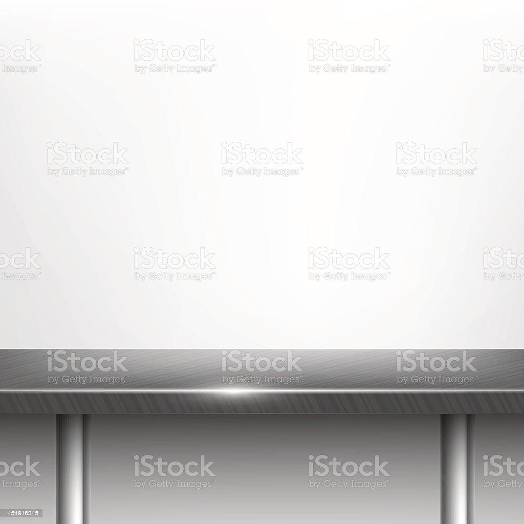 Steel table. vector art illustration