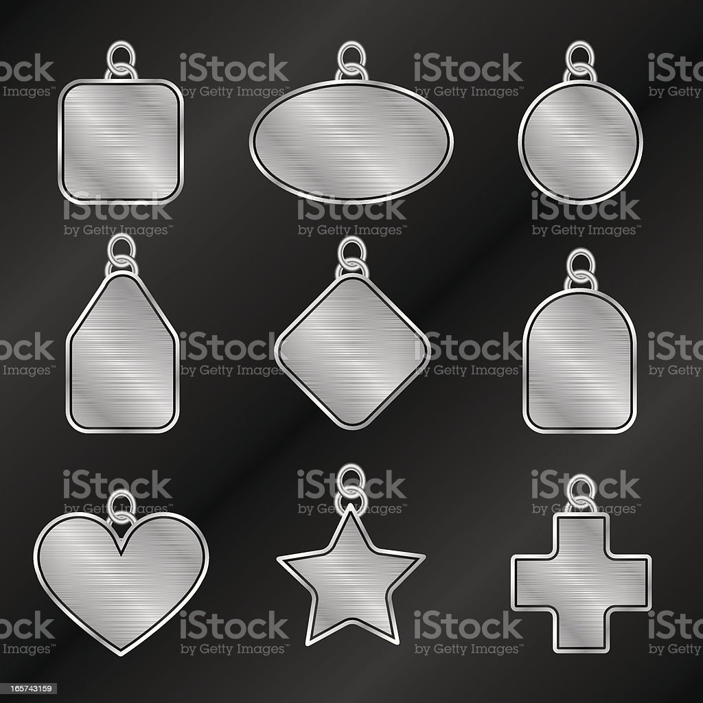 Steel Tags To Go royalty-free stock vector art
