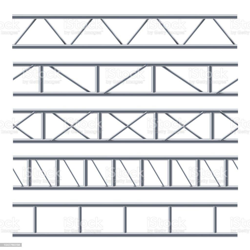Steel Truss Girder Seamless Pattern On White Stock Vector Art More Bridge Diagram Related Keywords Suggestions Beam Royalty Free