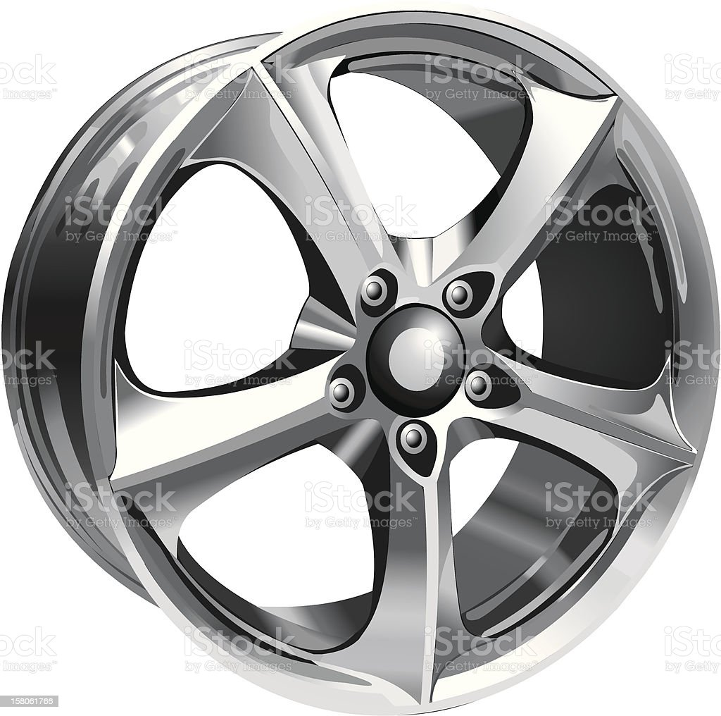 Steel Wheel vector art illustration