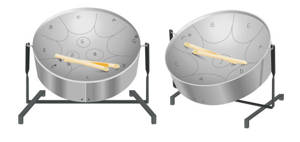Best Steelpan Illustrations, Royalty-Free Vector Graphics ...