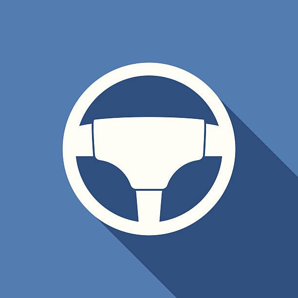 steering wheel icon steering wheel icon with long shadow steering wheel stock illustrations