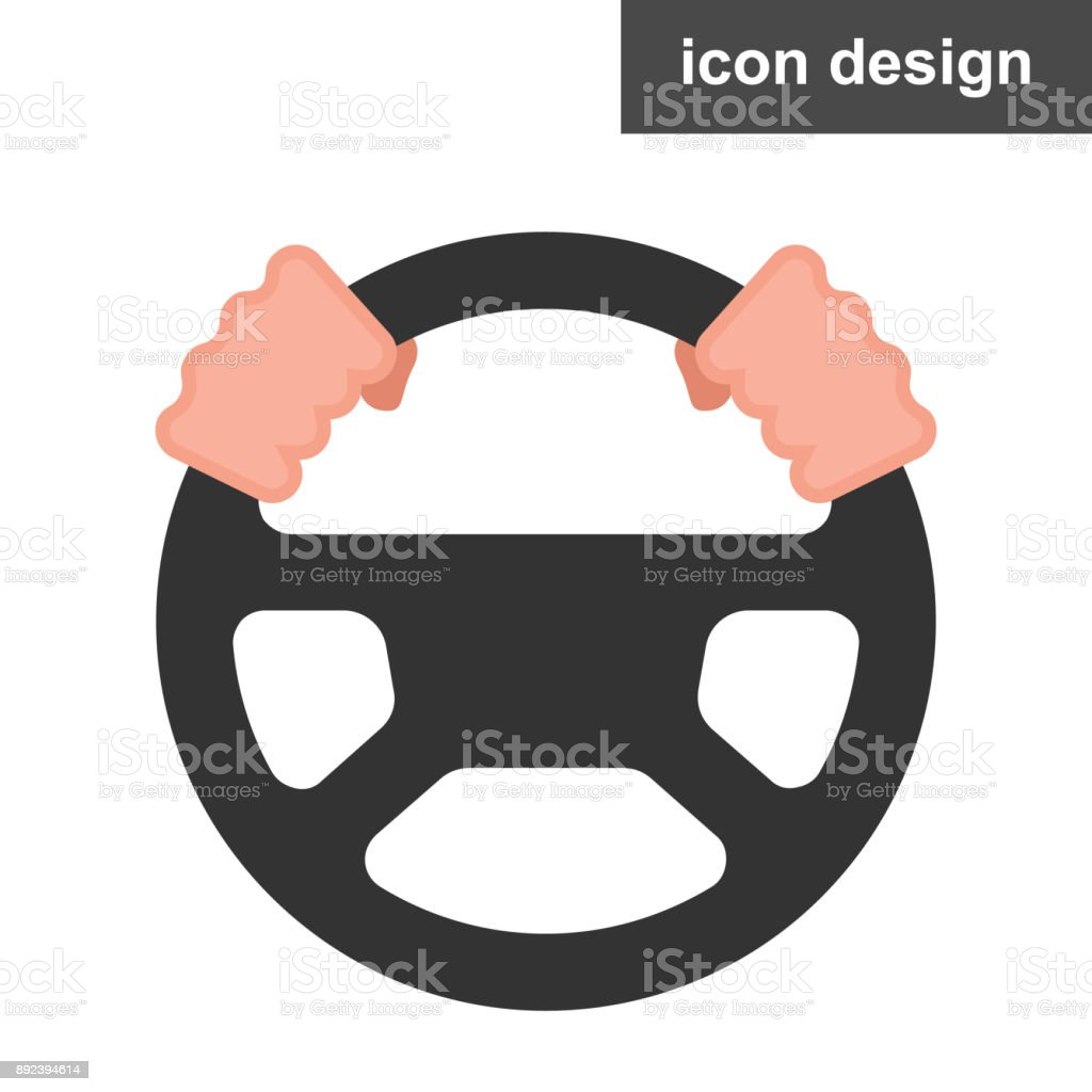 Volant icône - Illustration vectorielle