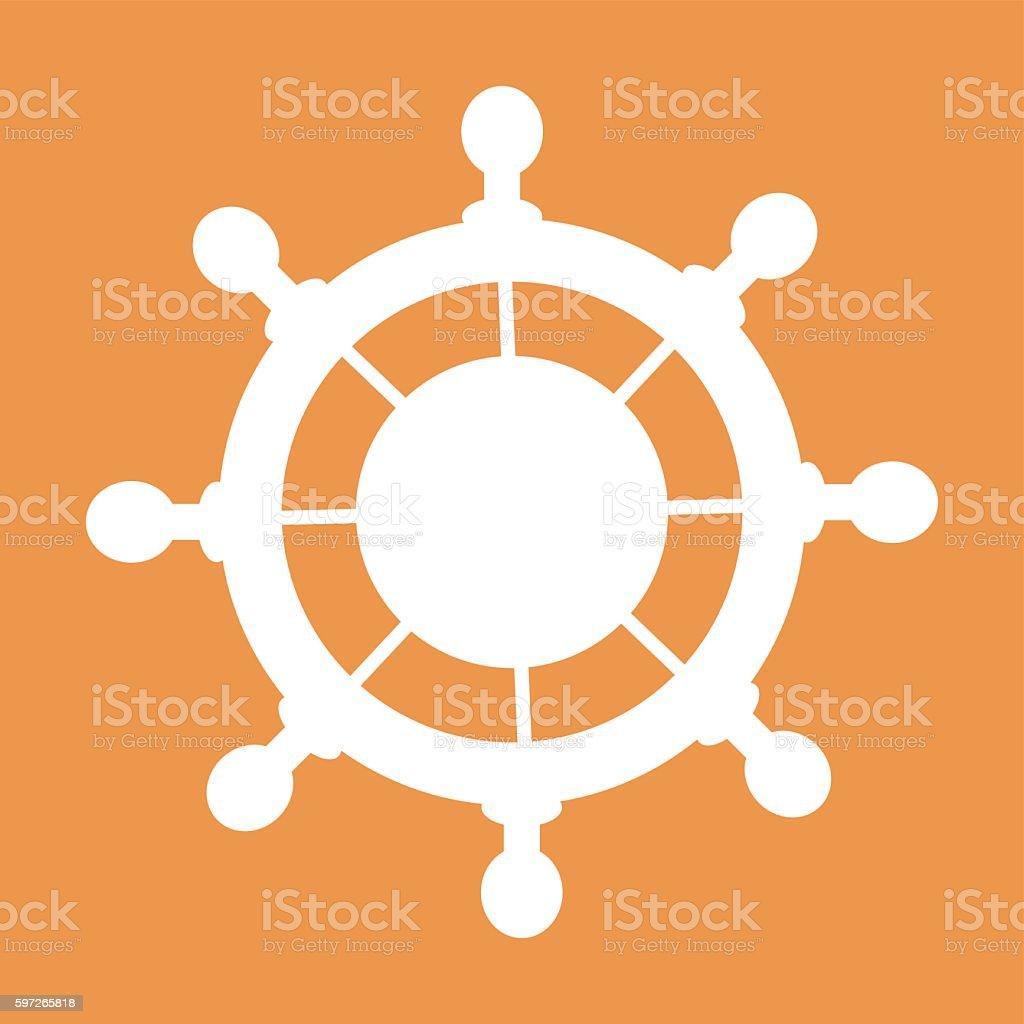 steering wheel in white on a colored background Lizenzfreies steering wheel in white on a colored background stock vektor art und mehr bilder von computergrafiken