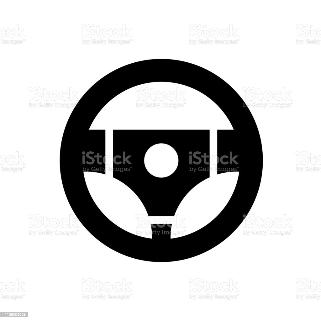 steering wheel vector icon stock illustration download image now istock https www istockphoto com vector steering wheel vector icon gm1169063029 323017523