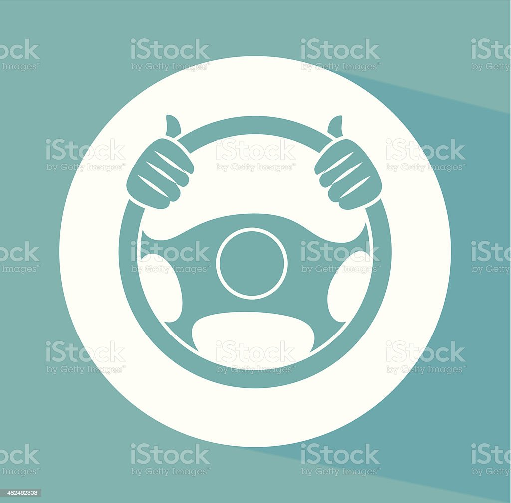 steering wheel vector art illustration