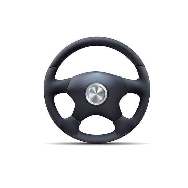 steering wheel Vector of the steering wheel, the file format for EPS10.0 fully editable. steering wheel stock illustrations