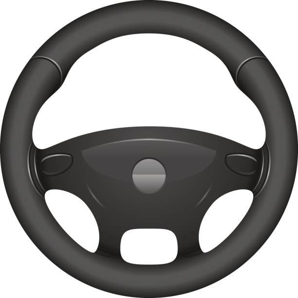 Steering wheel Steering wheel illustration isolated on white background steering wheel stock illustrations