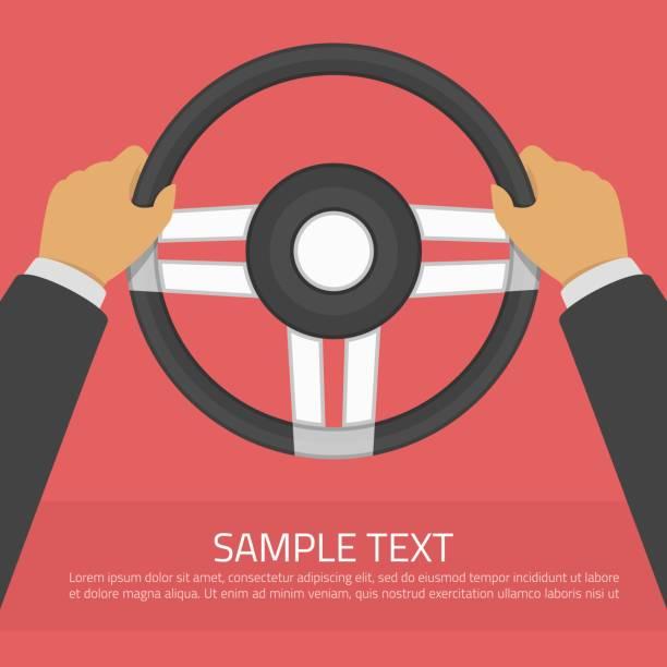 ilustraciones, imágenes clip art, dibujos animados e iconos de stock de ilustración de vector de volante. - conductor