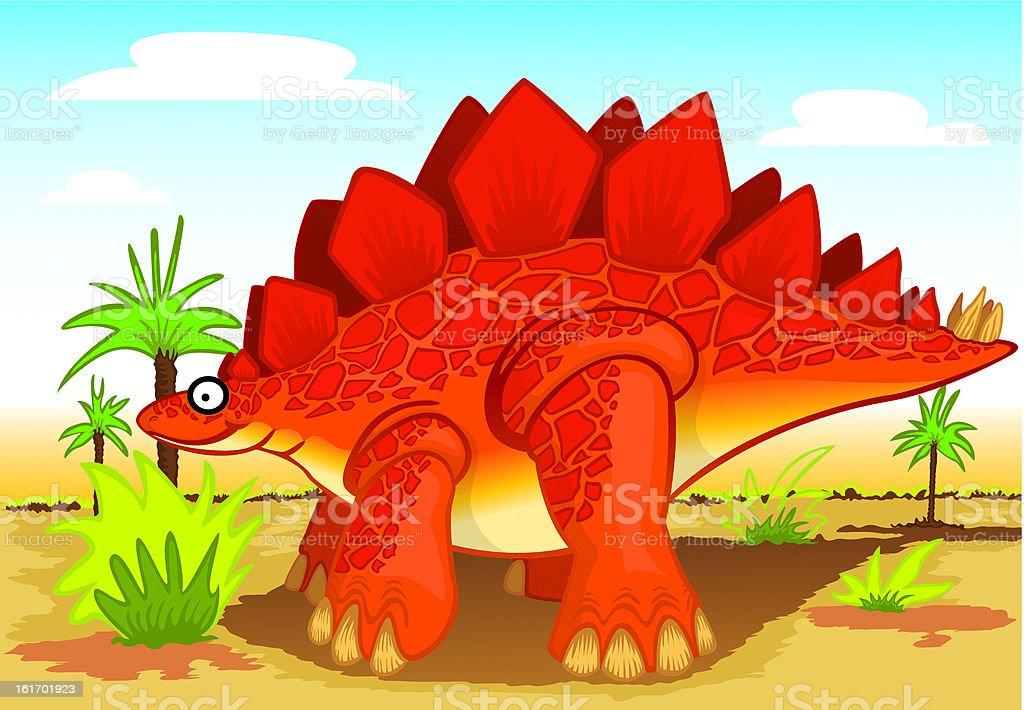 stegosaurus royalty-free stock vector art