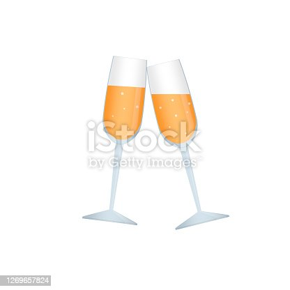 Champagne glasses, vector illustration